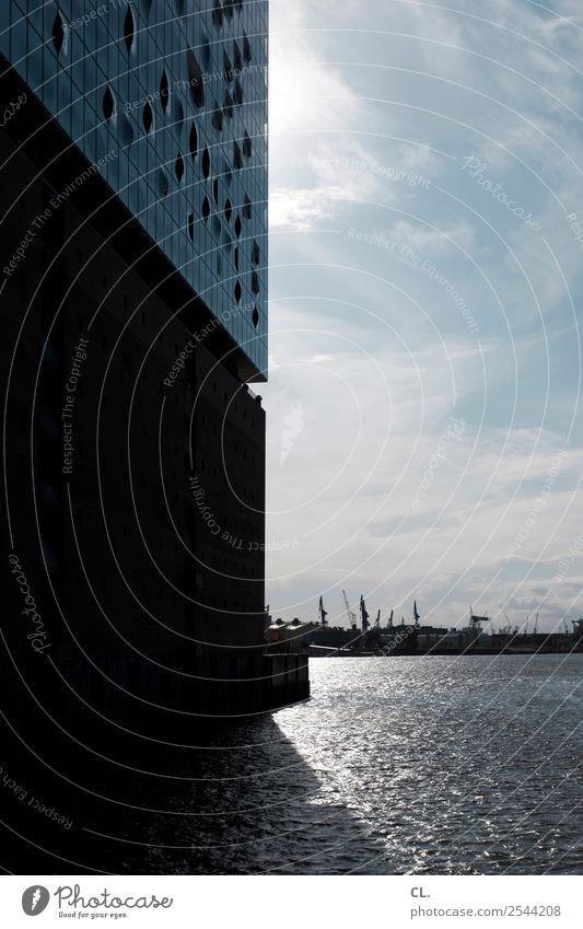 elbphilharmonie Ferien & Urlaub & Reisen Tourismus Sightseeing Städtereise Veranstaltung Wasser Himmel Sonnenlicht Schönes Wetter Fluss Hamburg Hamburger Hafen