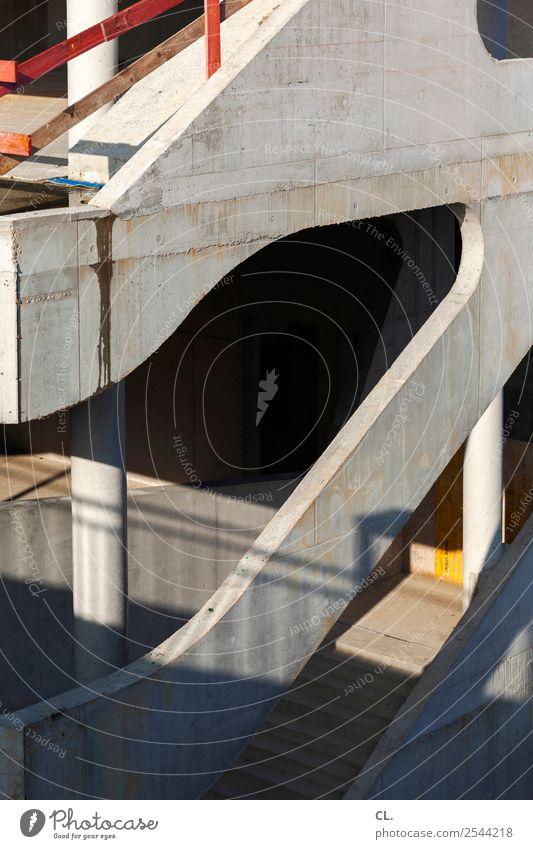 schaustelle baustelle Stadt Haus Architektur Wand Gebäude Mauer Fassade Treppe Wandel & Veränderung Baustelle Bauwerk Stadtzentrum Wirtschaft Handwerk bauen