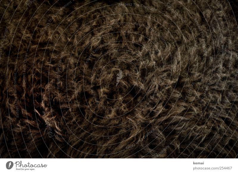 Schaffell dunkel braun weich Fell kuschlig Wolle