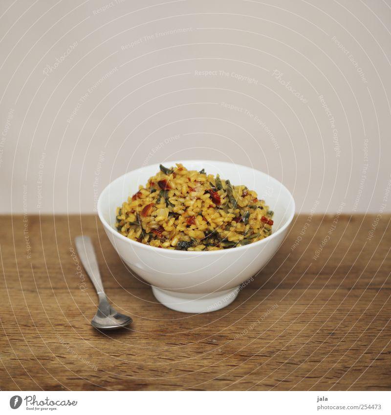 rizzi bizzi Ernährung Lebensmittel Gesundheit natürlich Gemüse Geschirr lecker Appetit & Hunger Mittagessen Bioprodukte Schalen & Schüsseln Löffel Reis Vegetarische Ernährung Holztisch