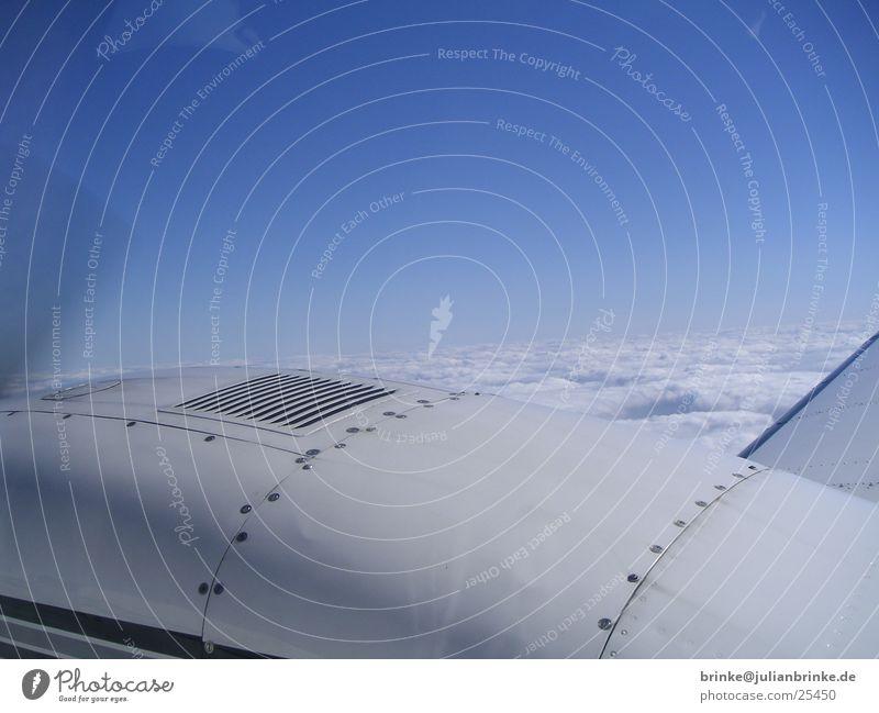 D-GIGI´s  rechter Propeller Himmel blau weiß schön Wolken Ernährung grau Wetter Flugzeug Luftverkehr Indien Motor Schraube rechts Meerschweinchen