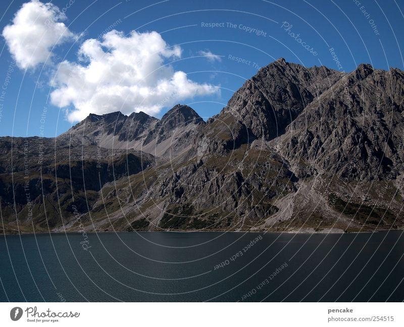 ein schöner tag - die welt steht still Natur Landschaft Urelemente Himmel Wolken Sommer Schönes Wetter Alpen Berge u. Gebirge See Lebensfreude Optimismus Kraft
