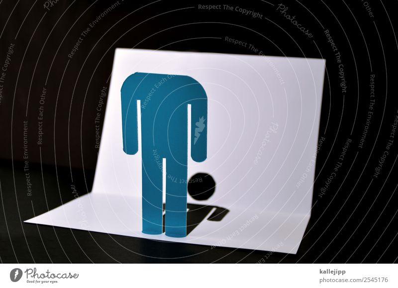alternative für dummköpfe Mensch Kopf maskulin Schilder & Markierungen stehen Papier Hinweisschild Zeichen Bildung Verstand Piktogramm Warnschild kopflos Ikon