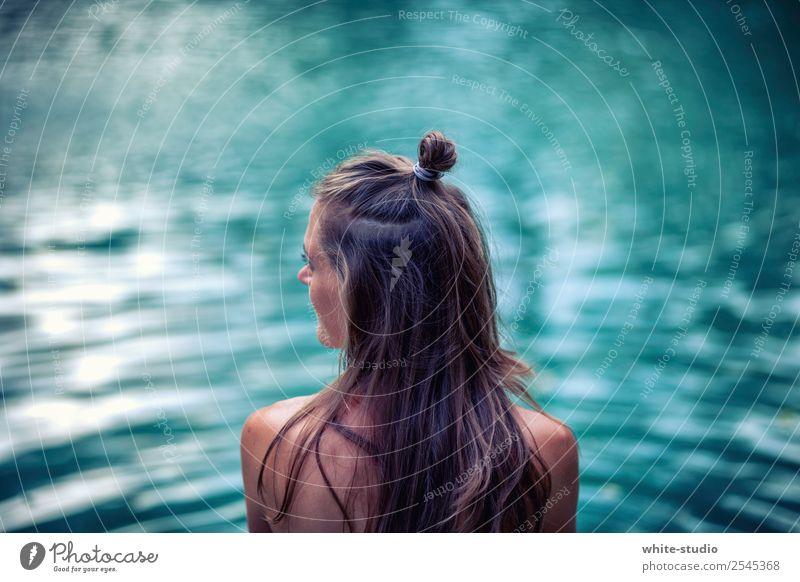 Mystisches Gewässer Wellness Leben harmonisch Wohlgefühl Zufriedenheit Sinnesorgane Erholung ruhig Meditation Spa Schwimmbad Schwimmen & Baden Sommer