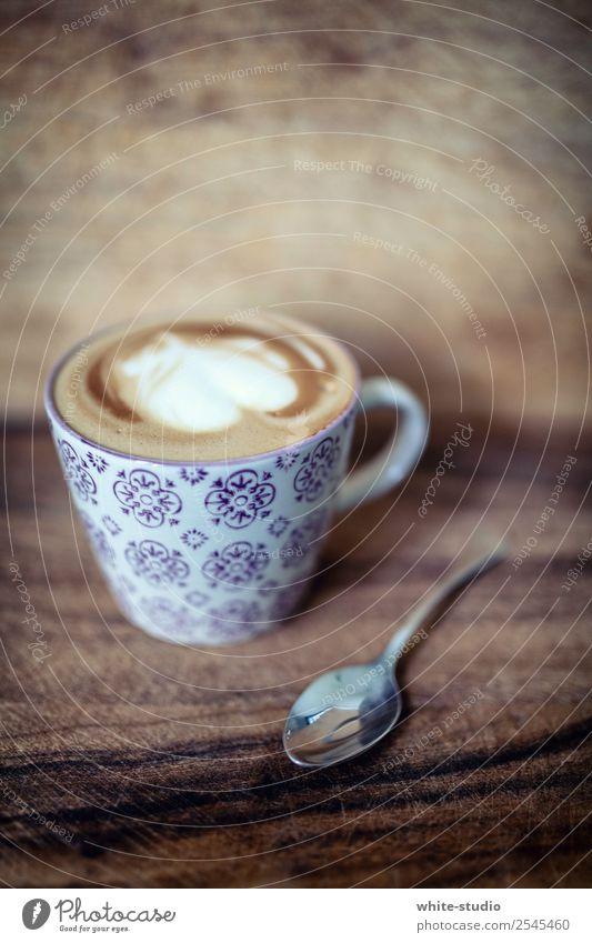 Have a Break! Getränk Kaffee genießen Cappuccino Kaffeetrinken Kaffeetasse Kaffeepause Milchschaum Latte Art Barista Herz Kaffeeschaum Kaffeelöffel Erholung
