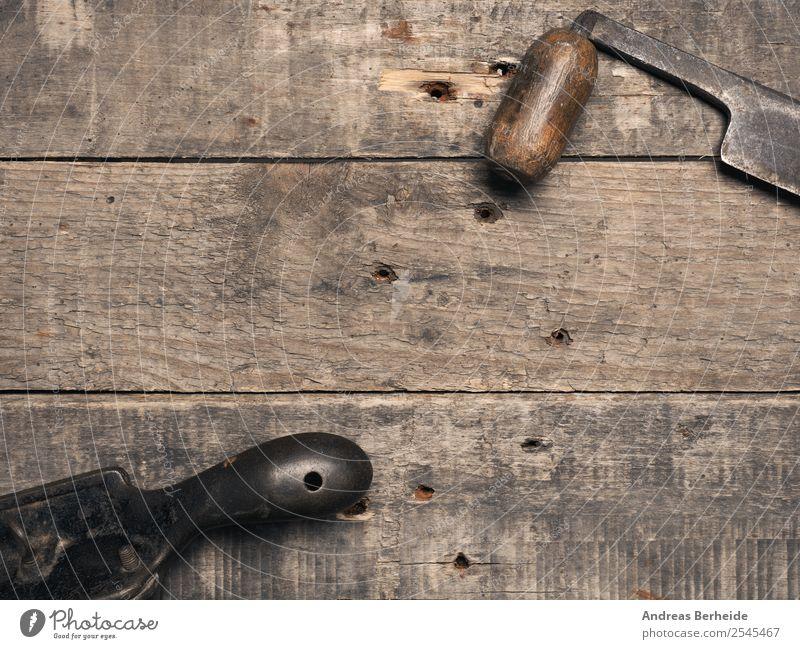 Alte Hobel auf Holzhintergrund alt Hand Hintergrundbild retro Kreativität einzigartig Idee Erwachsenenbildung Industriefotografie altehrwürdig Handwerk