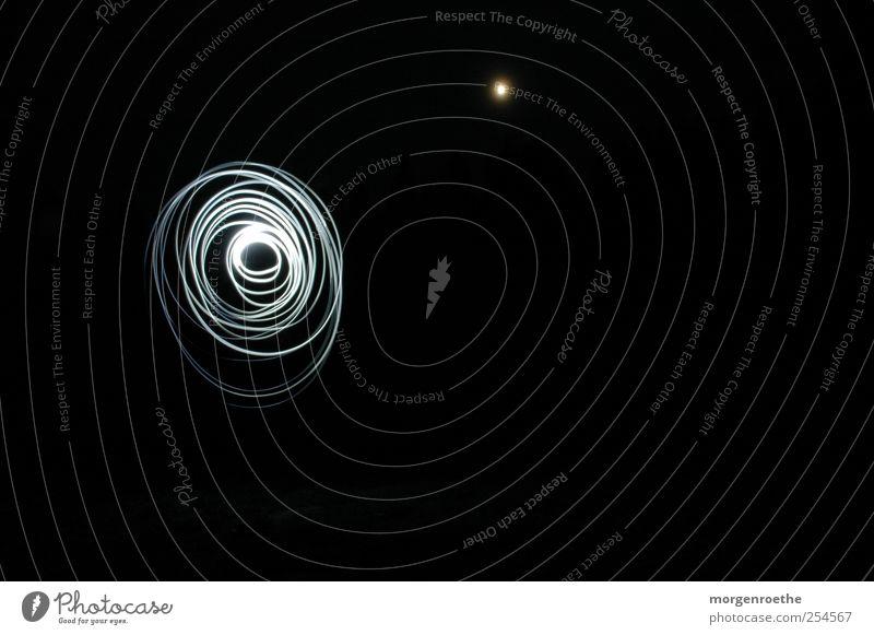 Bieszczady Natur Mond Vollmond Herbst schwarz weiß Polen Headlight Kreis Schwarzweißfoto Außenaufnahme Experiment Textfreiraum rechts Hintergrund neutral Nacht