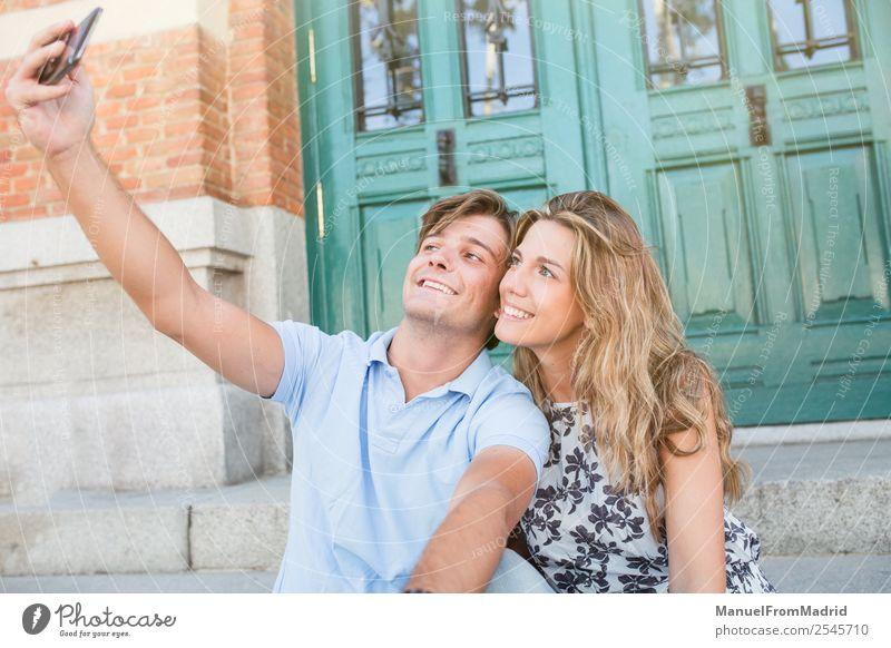 Frau Ferien & Urlaub & Reisen Mann Sommer schön Freude Lifestyle Erwachsene Liebe Glück Paar Freundschaft Freizeit & Hobby Kommunizieren Lächeln Fotografie