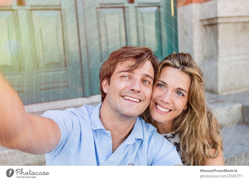 Frau Ferien & Urlaub & Reisen Mann Sommer schön Freude Lifestyle Erwachsene Liebe Glück Paar Freundschaft Freizeit & Hobby Lächeln genießen Fotografie
