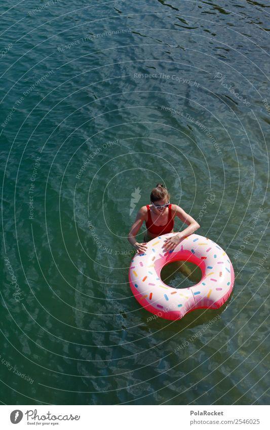 #A# Badespaß Mensch feminin 1 ästhetisch Zufriedenheit Sommer Sommerurlaub sommerlich Sommerferien Sommertag Schwimmen & Baden Schwimmhilfe Freude Kühlung