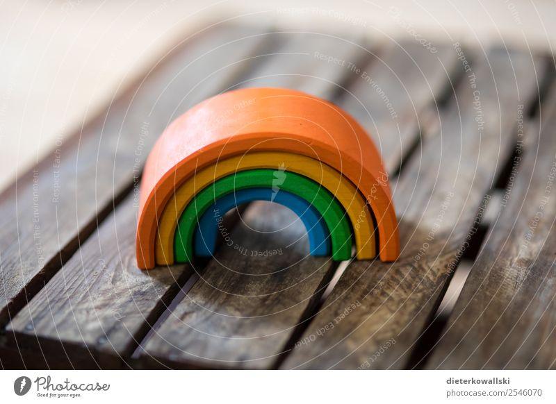 Regenbogen Spielzeug Spielen schön Kinderspiel Kindergarten Kindererziehung lernen Farbfoto Innenaufnahme Tag Schwache Tiefenschärfe