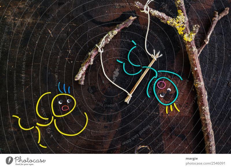 verkehrte Welt | Die Welt kopfüber sehen! Kind Mensch Baum Mädchen gelb feminin Junge Spielen braun Freizeit & Hobby maskulin gefährlich Ast Kleinkind Kontrolle