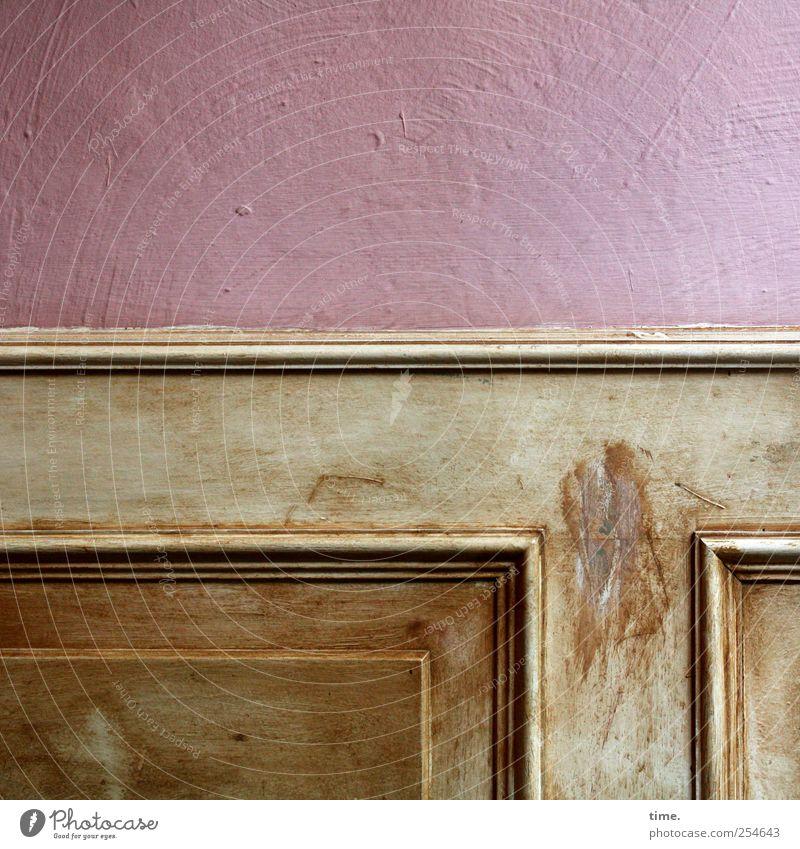 viel erlebt Innenarchitektur Dekoration & Verzierung Mauer Wand Holz braun rosa ästhetisch Zufriedenheit Identität nachhaltig Nostalgie Ordnung Stimmung