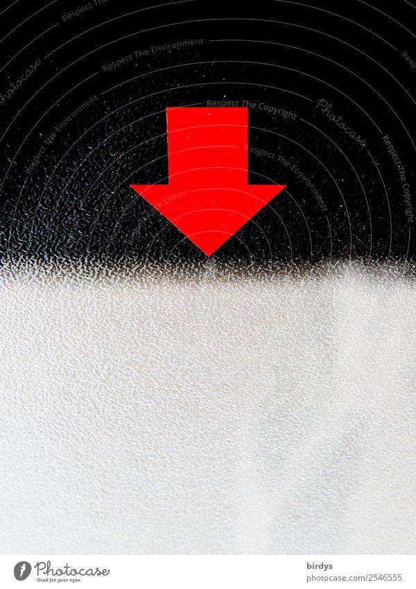 Grauzone 1 Kunststoff Zeichen Schilder & Markierungen Linie Pfeil einzigartig oben unten grau rot schwarz Gesellschaft (Soziologie) Zufriedenheit komplex