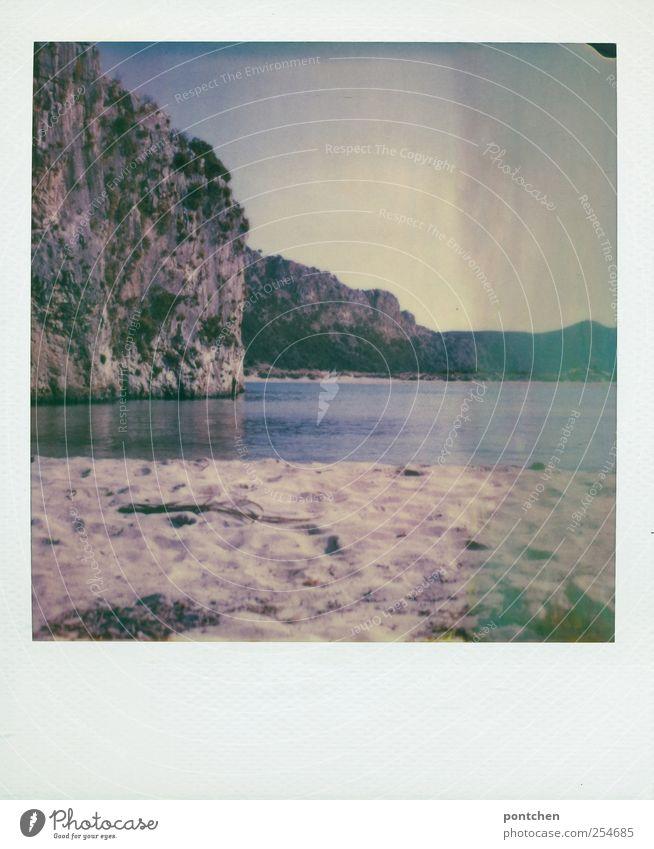 urlaub Ferien & Urlaub & Reisen Meer Strand Landschaft Berge u. Gebirge Sand Zufriedenheit Felsen Wassertropfen Sommerurlaub Griechenland