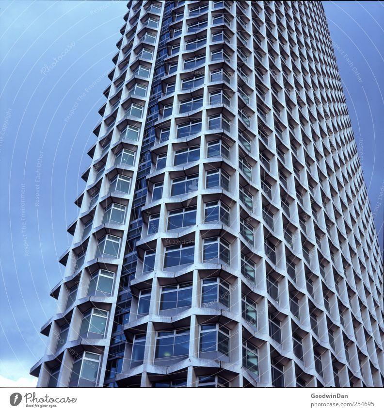 Überblick. II Himmel Stadt Fenster Fassade hoch Hochhaus groß Stadtzentrum Hauptstadt gigantisch Altstadt Fußgängerzone