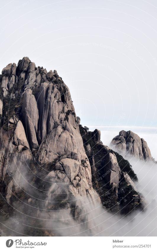 Himmel Natur Ferien & Urlaub & Reisen weiß Baum Farbe Wolken Landschaft gelb Berge u. Gebirge grau Park braun Wetter Felsen Nebel