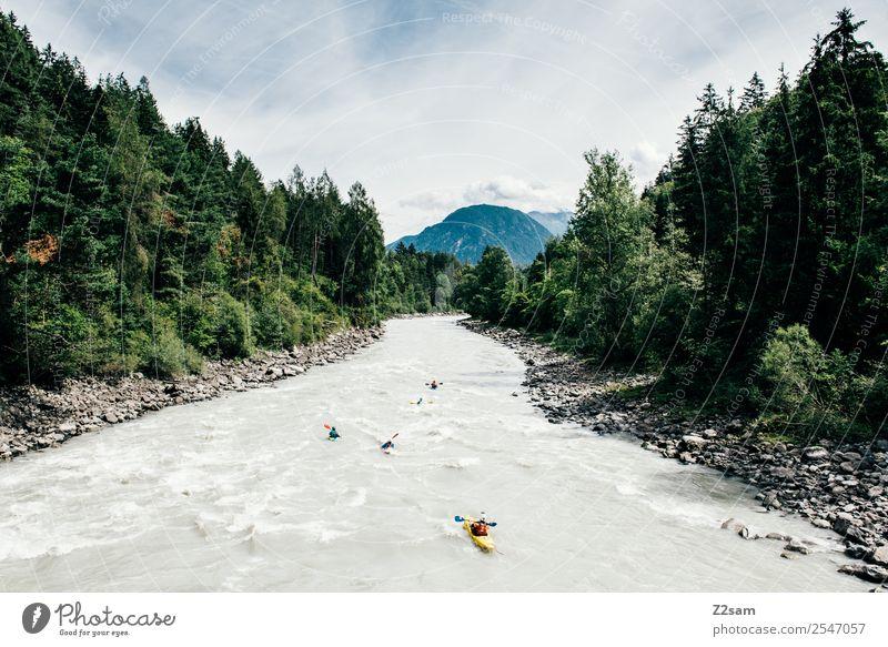 Canyoning im Pitztal Lifestyle Freizeit & Hobby Ferien & Urlaub & Reisen Abenteuer Sommerurlaub Berge u. Gebirge Kanusport Wildwasser Natur Landschaft Wolken