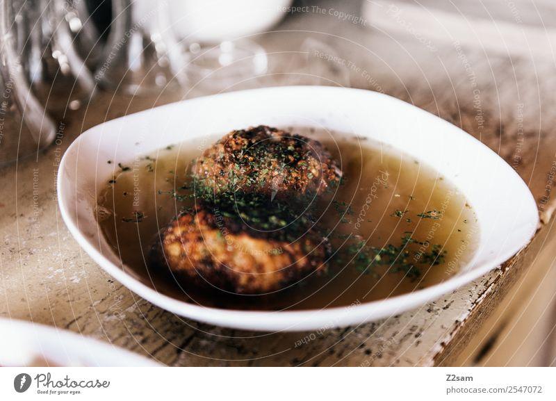 Kaspressknödel Lebensmittel Suppe Eintopf Bioprodukte Vegetarische Ernährung Österreich Teller Berge u. Gebirge Kuh Duft Essen wandern einfach frisch Gesundheit