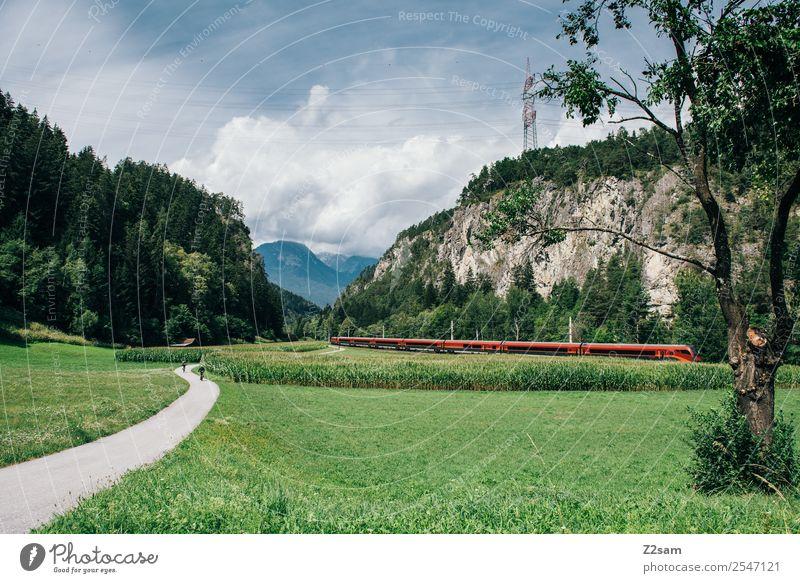 Bahnland Ferien & Urlaub & Reisen Tourismus Ausflug Berge u. Gebirge wandern Natur Landschaft Sonne Sommer Schönes Wetter Alpen Verkehrsmittel Verkehrswege