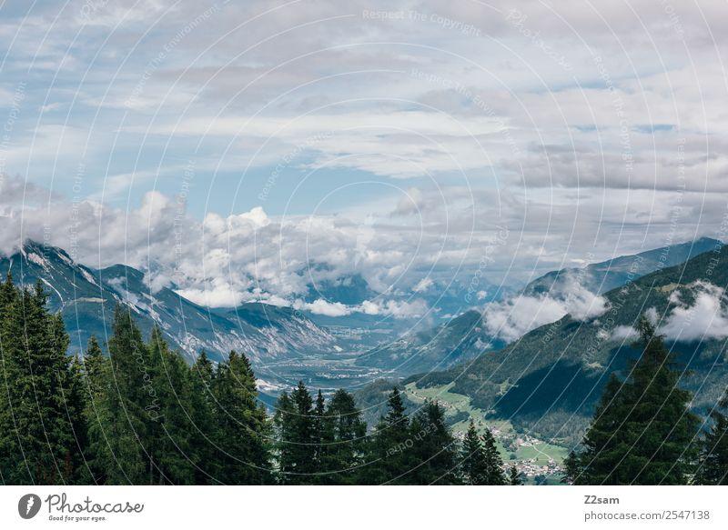 Inntal / Austria Himmel Natur Ferien & Urlaub & Reisen Sommer blau grün Landschaft Erholung Wolken Wald Ferne Berge u. Gebirge Umwelt natürlich wandern Horizont