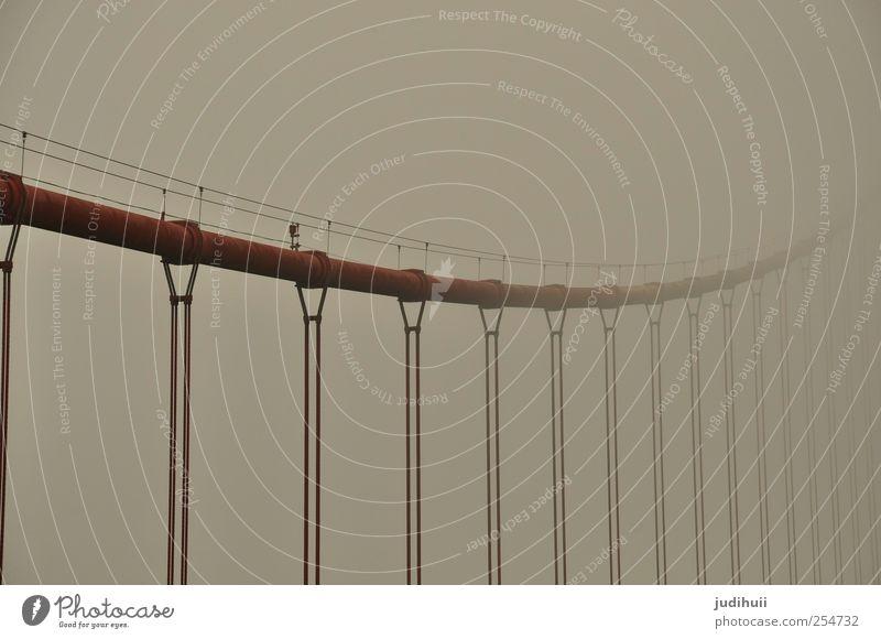 Golden Gate Bridge II rot Ferien & Urlaub & Reisen Architektur grau Nebel Seil Brücke Stahl Rost Wahrzeichen Sightseeing Sehenswürdigkeit Kalifornien