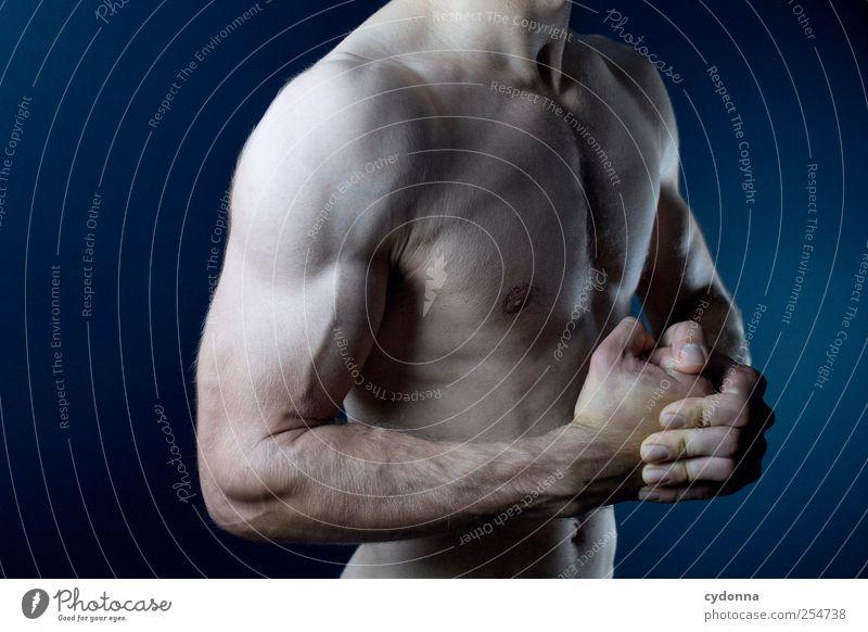 Kräftemessen Mensch Mann Jugendliche schön Leben Erwachsene nackt Gesundheit Körper Kraft Arme Haut maskulin Aktion Lifestyle einzigartig