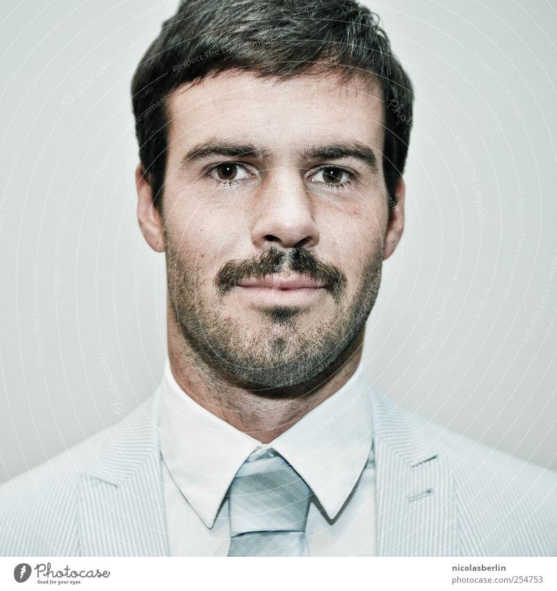 Montags Portrait 11 Jugendliche Mann schön Junger Mann Gesicht Erwachsene 18-30 Jahre Stil Feste & Feiern Arbeit & Erwerbstätigkeit Behaarung maskulin elegant Lifestyle Lächeln Bart