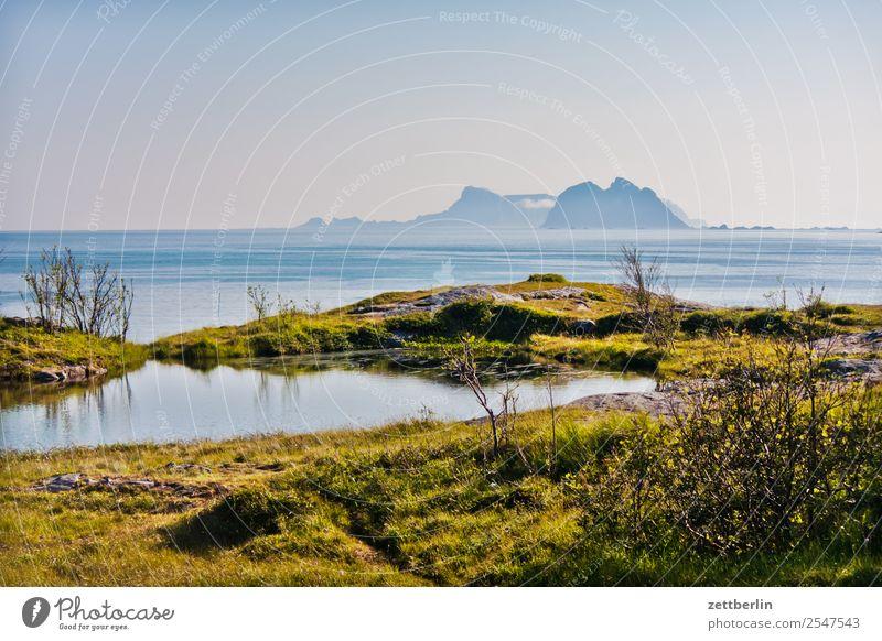 Blick von Å nach Nordland und Sørland Himmel Natur Ferien & Urlaub & Reisen Himmel (Jenseits) Wasser Landschaft Meer Wolken Ferne Reisefotografie Textfreiraum