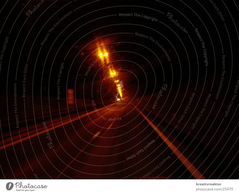 autobahn bei nacht Straße Beleuchtung Verkehr Autobahn Nacht Straßenbeleuchtung Fahrbahn