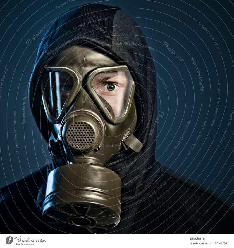 keep going suckers! Mann Erwachsene dunkel Angst Zukunft bedrohlich gruselig Wissenschaften atmen Zukunftsangst Umweltschutz Umweltverschmutzung Fortschritt