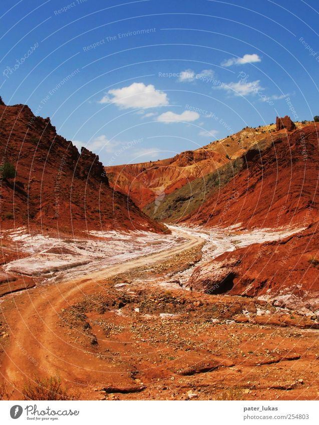 Salt and Pepper blau weiß rot schwarz gelb Landschaft Erde Felsen Urelemente