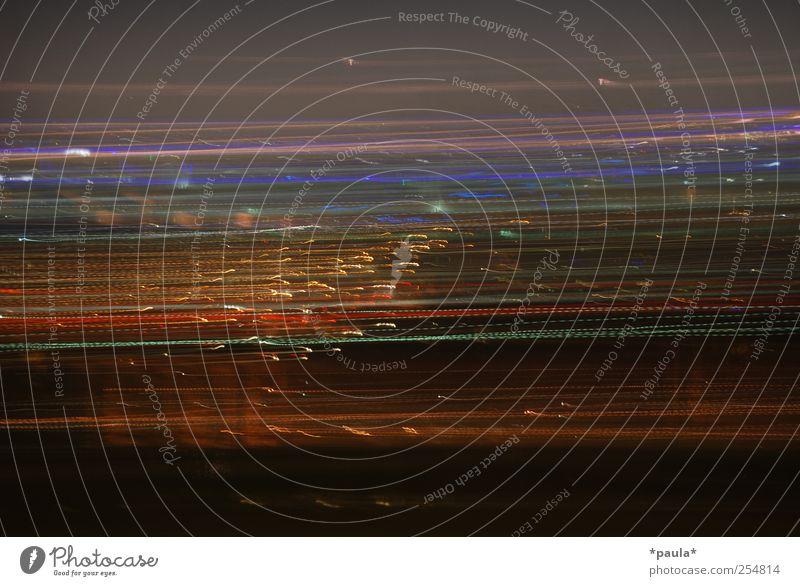 Lichtgeschwindigkeit rot schwarz gelb Bewegung Linie Kunst braun Design außergewöhnlich horizontal Nachtleben Richtung