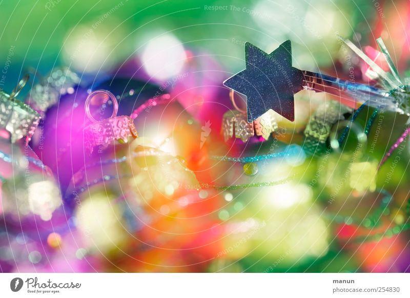 buntes Fest Weihnachten & Advent schön Feste & Feiern glänzend Stern (Symbol) Kitsch Zeichen fantastisch Christbaumkugel Vorfreude Weihnachtsdekoration festlich