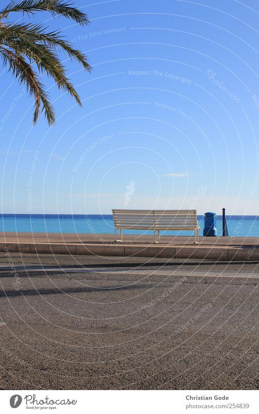 Nice Himmel Wasser blau Sonne Sommer Ferien & Urlaub & Reisen Meer Strand ruhig Ferne Erholung Freiheit Wärme Wetter Zufriedenheit Horizont
