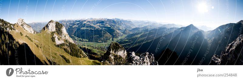 Panorama Berner Oberland Natur Sonne Sommer ruhig Ferne Erholung Herbst Leben Freiheit Landschaft Berge u. Gebirge Erde Zufriedenheit Felsen wandern Abenteuer
