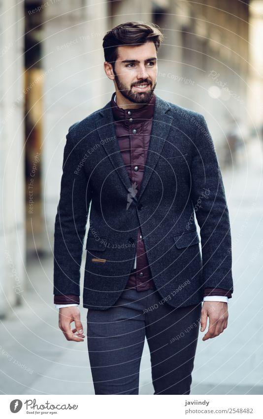 Mensch Jugendliche Mann schön Junger Mann weiß 18-30 Jahre Straße Lifestyle Erwachsene Glück Stil Mode Haare & Frisuren maskulin modern