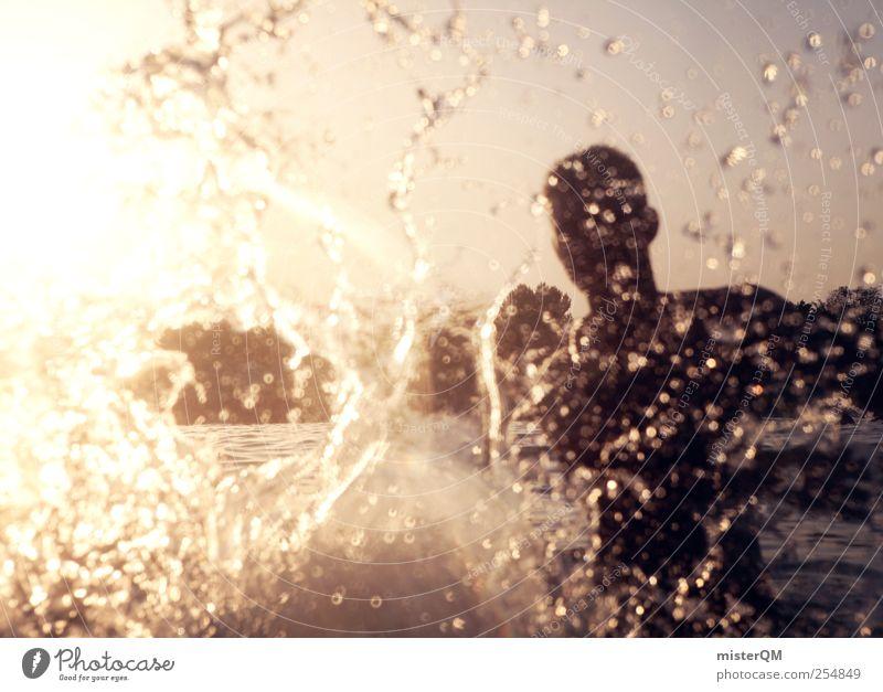Mein absoluter Platsch-Ernst. Wasser Meer Sommer Freude Leben Kunst Schwimmen & Baden modern Wassertropfen ästhetisch Lebensfreude Sommerurlaub Momentaufnahme Wasseroberfläche spritzen toben