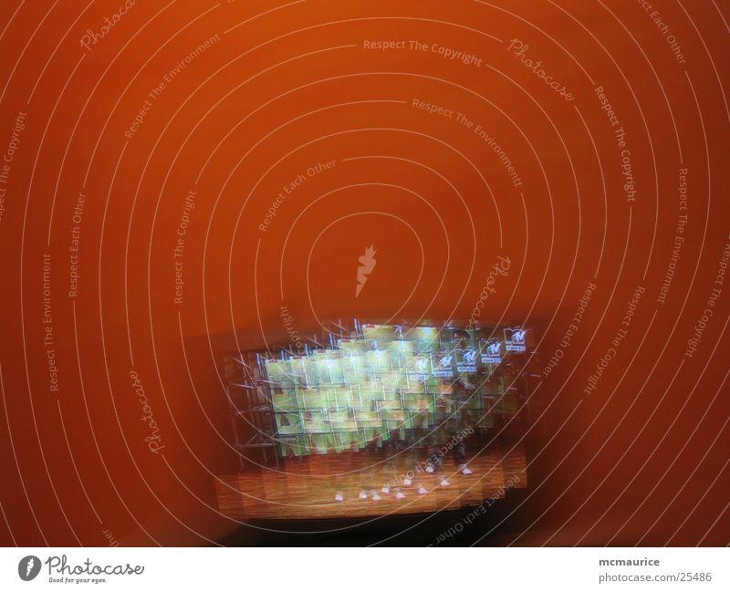 late night blurry vision rot Technik & Technologie Fernseher Bildschirm Elektrisches Gerät MTV