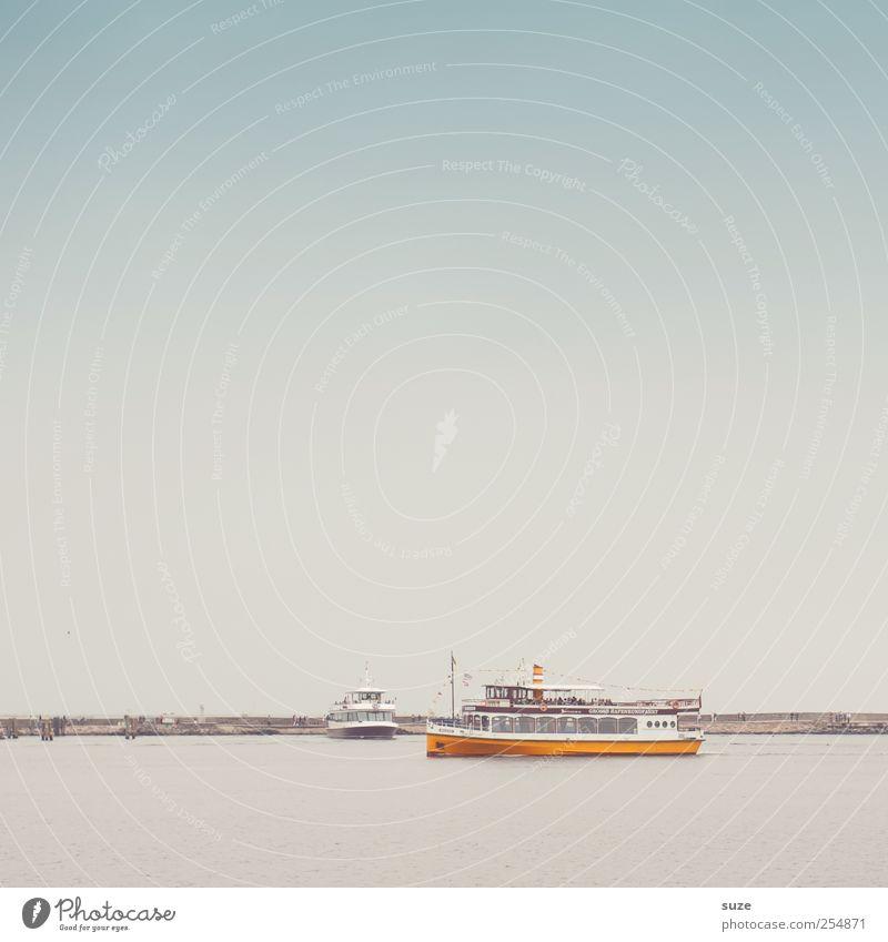 Große Hafenrundfahrt Ferien & Urlaub & Reisen Tourismus Meer Umwelt Urelemente Wasser Himmel Wolkenloser Himmel Horizont Klima Wetter Küste Ostsee Schifffahrt