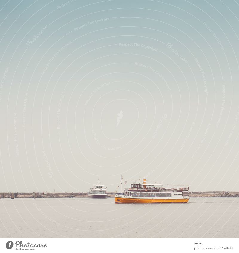 Große Hafenrundfahrt Himmel Wasser Ferien & Urlaub & Reisen Meer Umwelt Küste Horizont Wasserfahrzeug Deutschland Wetter Klima authentisch Tourismus Urelemente