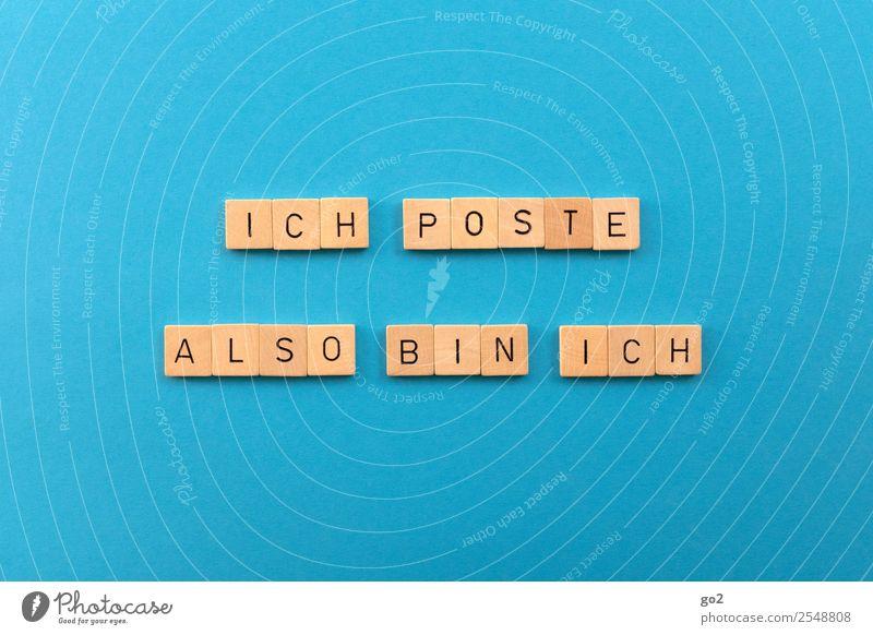 Ich poste also bin ich Freizeit & Hobby Spielen Brettspiel Medien Printmedien Neue Medien Internet Zeitung Zeitschrift Buch lesen Schreibwaren Papier Holz