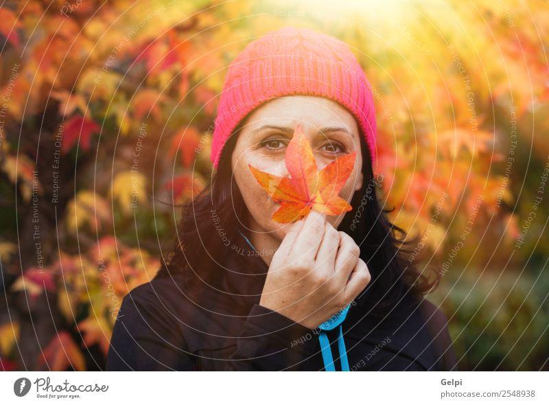 Frau Mensch Natur schön weiß Baum Blatt Wald schwarz Gesicht Lifestyle Erwachsene Herbst natürlich Freiheit Mode