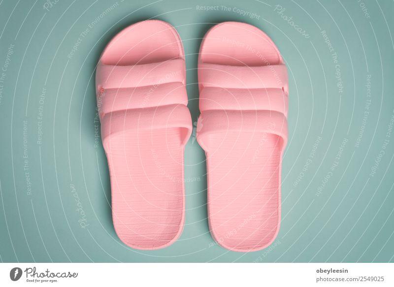 Rosa Flip Flop Schuhe perfekt für eine junge Dame Erholung Freizeit & Hobby Ferien & Urlaub & Reisen Sommer Sonne Strand Frau Erwachsene Fuß Mode Hausschuhe