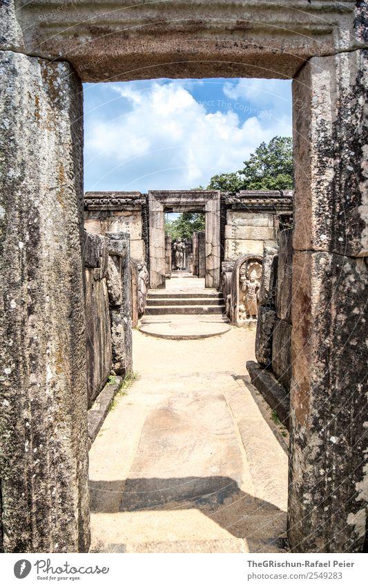 Polonnaruwa alt Wand Tourismus Mauer Stein braun Kultur Sehenswürdigkeit Wahrzeichen Denkmal Statue Weltkulturerbe Geschichtsbuch Sri Lanka königlicher Palast