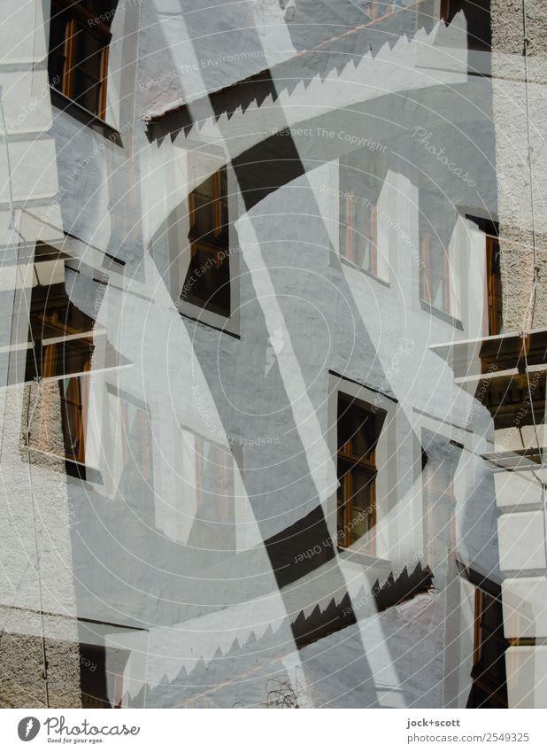 einen Bogen schlagen Design Sightseeing Städtereise Architektur Kultur Görlitz Stadtzentrum Altstadt Gebäude Fassade Streifen außergewöhnlich eckig fantastisch