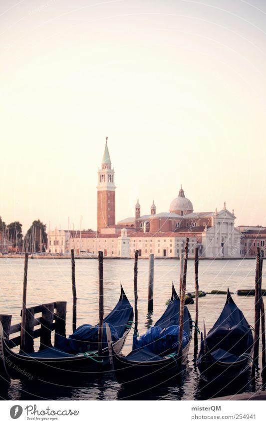 Zeitreise. Kunst ästhetisch Venedig San Giorgio Maggiore Gondel (Boot) Idylle Romantik Ferien & Urlaub & Reisen Urlaubsstimmung Urlaubsfoto Urlaubsort