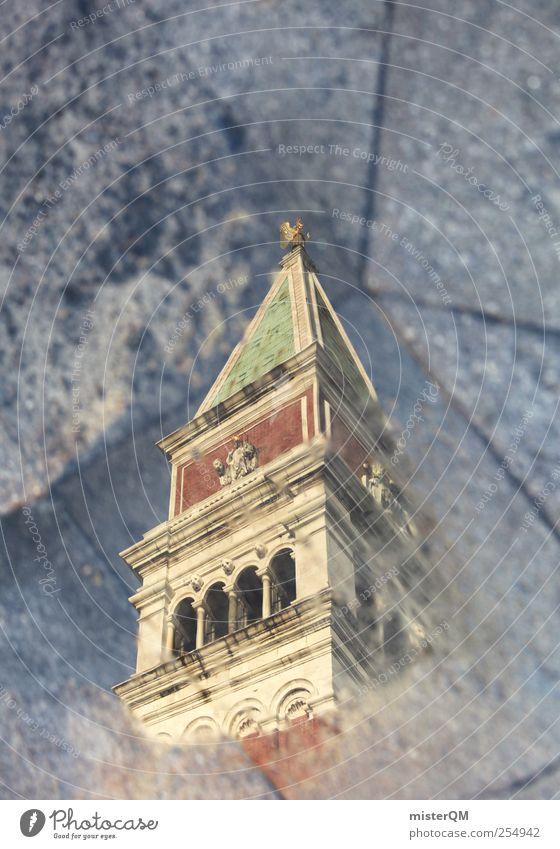 tief oben. Ferien & Urlaub & Reisen oben Kunst Platz Tourismus ästhetisch Perspektive außergewöhnlich Turm Reisefotografie unten Surrealismus Pfütze Venedig Kunstwerk Barock