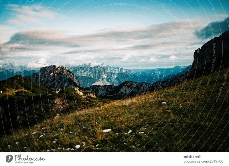 alpine Aussichten Ferien & Urlaub & Reisen Ausflug Abenteuer Ferne Freiheit Berge u. Gebirge wandern Umwelt Natur Landschaft Erde Himmel Wolken Klima