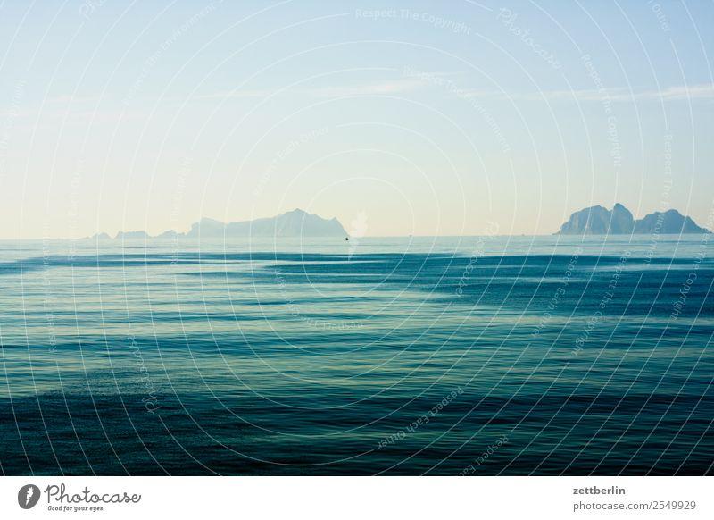 Moskenstraumen Polarmeer Europa Ferien & Urlaub & Reisen Fischereiwirtschaft Fähre Himmel Himmel (Jenseits) Horizont Landschaft maritim Meer Natur Norwegen